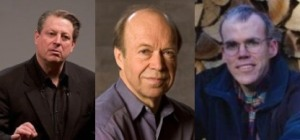 The three most prominent leaders of the US and perhaps worldwide climate protection movement, Al Gore, James Hansen and Bill McKibben are now agreed upon the target carbon dioxide concentration of 350 ppm in the atmosphere a net subtraction of the gas from the current accelerating levels.  This target demands that builders of the post-carbon infrastructure start where possible at a zero or negative-carbon rather than a reduced carbon technology.