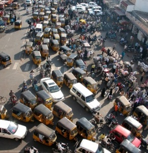 Following the American and European model of economic development is problematic for India and other densely populated, rapidly industrializing nations not only from the point of view of carbon emissions.  India has some of the world's worst traffic, even when a majority of the population cannot afford cars or other motorized conveyances.  The Indian government will need to take a leadership role in figuring out a way a more prosperous citizenry can enjoy some of the freedoms afforded by increased wealth without impairing the quality of life of other Indians, including the building of the appropriate infrastructure.