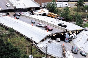 The collapse of a bridge carrying Interstate 35 in Minnesota was a high profile event that called attention to years of neglect in maintaining and building infrastructure in the US.  While infrastructure is taken for granted by participants in commerce, it has become more difficult to persuade legislators and the public to pay for infrastructure and its maintenance in an anti-tax era.  The idealization of markets as self-sufficient and self-sustaining has contributed a justification to ignoring the failure of infrastructure.
